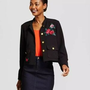 A New Day Floral Embroidered Blazer